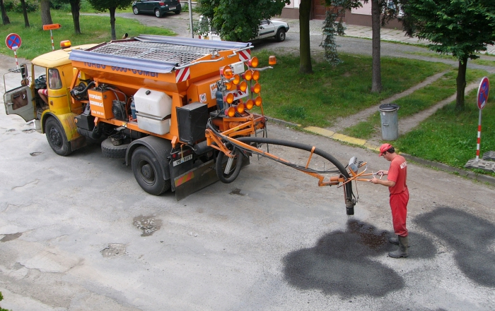 potholes being patched